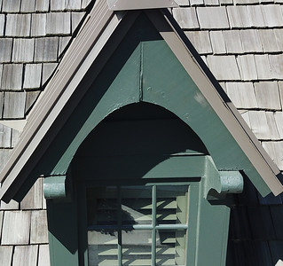 16. Fascia detail, garage dormer, north (right) dormer