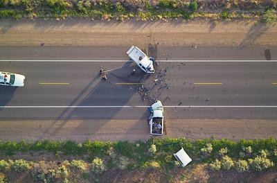 Fatal head-on collision Beltline Road south of Phoenix AZ