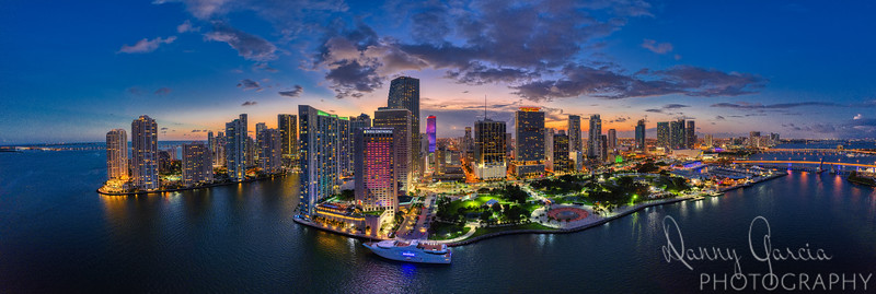 Downtown Miami Aerial Panoramic