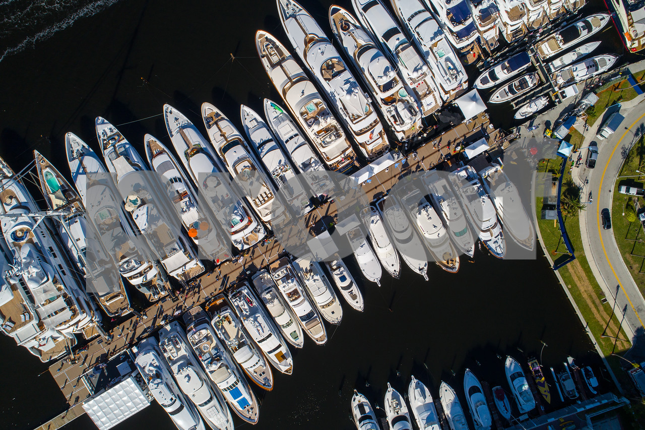Aerial image of boats Fort Lauderdale