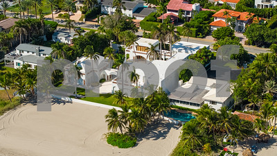Aerial image of a luxury mansion in Golden Beach Florida