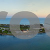Aerial panorama Haulover Park and Bal Harbour Florida