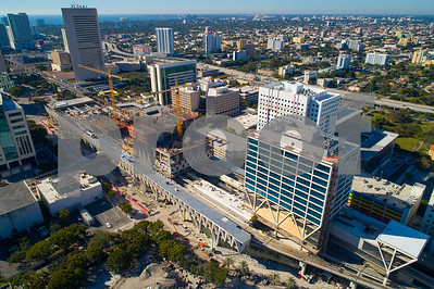 Brightline Miami Central Stateion construction development