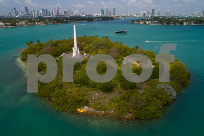 Aerial image of Flagler Memorial Island Miami Beach