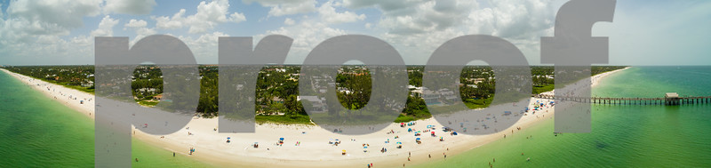 Aerial panorama Naples Beach Florida