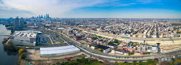 Fishtown Riverside Aerial Panorama
