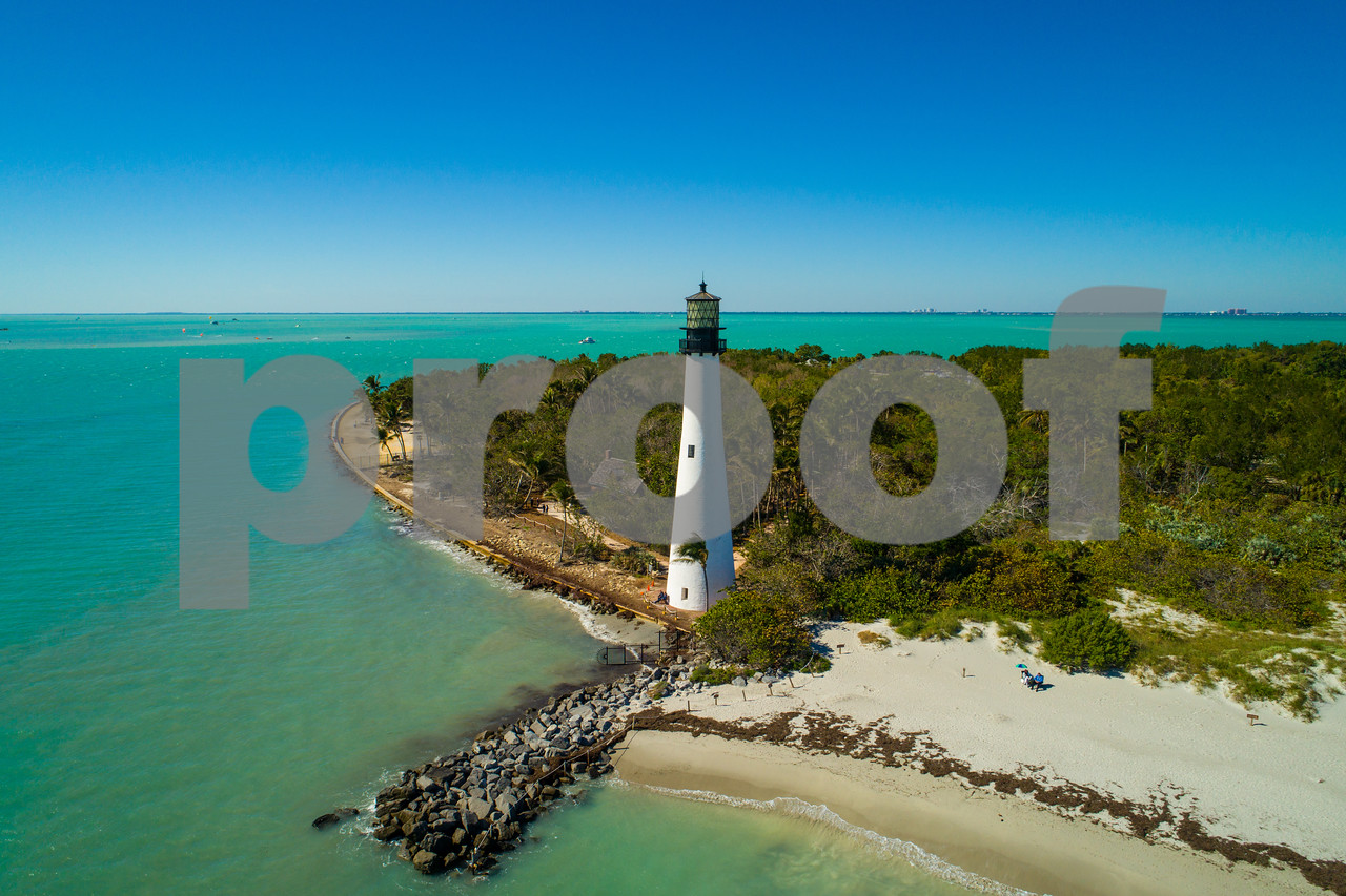 Cape Florida lighthouse aerial image