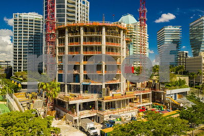 Drone aerial inspection Park Grove Coconut Grove Miami Florida construction site