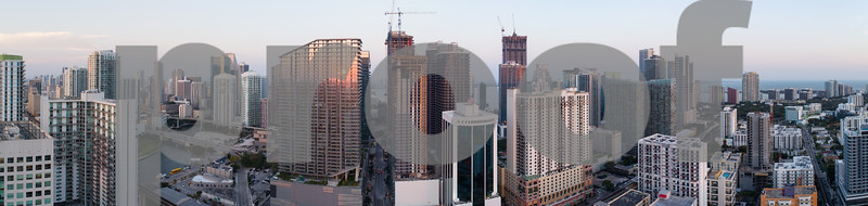 Aerial panoramic photo of Brickell