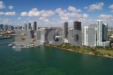Aerial photo of Edgewater Miami Florida