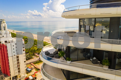Aerial image of Faena House Miami Beach construction