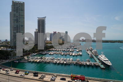 Miami Beach condominiums on Biscayne Bay