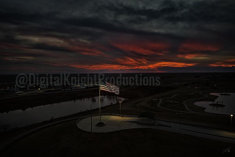 HCC_Flag_Sunset