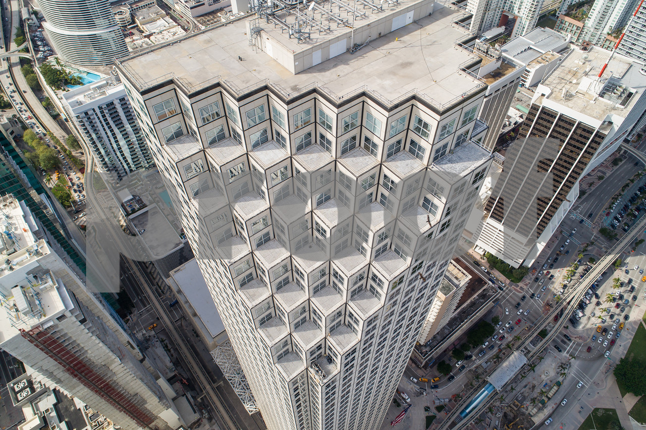 Aerial image Downtown Miami Southeast Financial Center