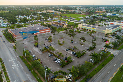 Aerial image Florida City Best Buy retail chain store