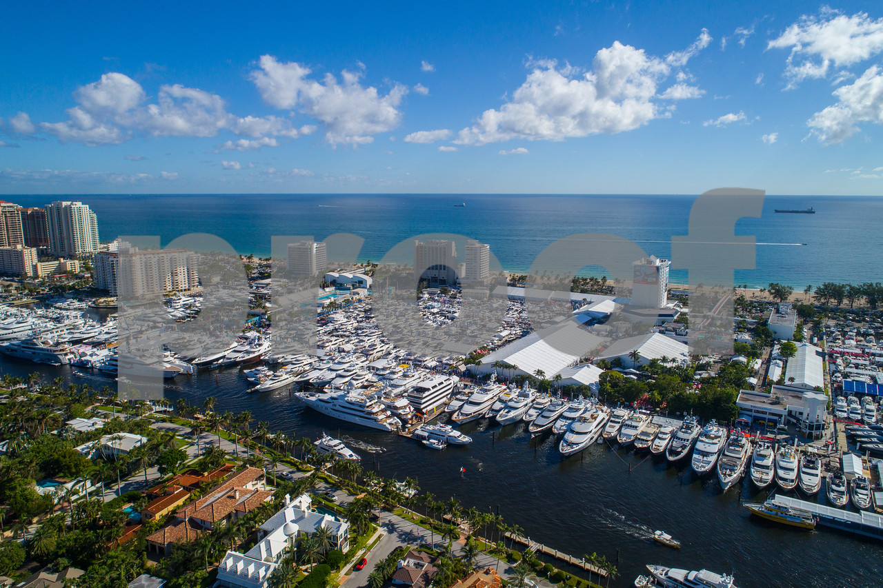 Aerial drone Fort Lauderdale boat show