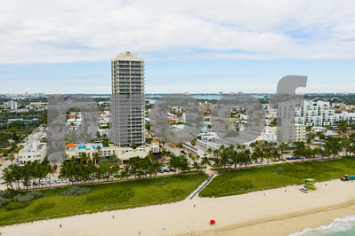 Aerials of Miami Beach stock photos