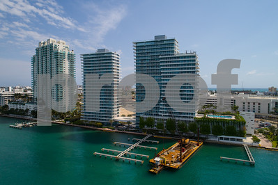 Aerial photo Miami Beach bayfront real estate