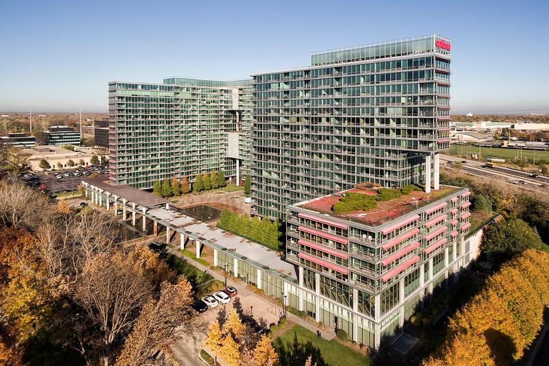 Aerial View of Condo Building