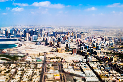Dubai Miniature Aerial View