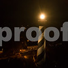 Aerial night image St Augustine lighthouse