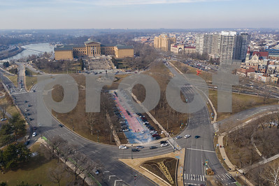 Aerial drone photo Philadelphia Museum of Art
