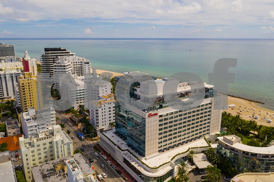 Aerial drone photo of the Faena District Miami Beach Collins Avenue