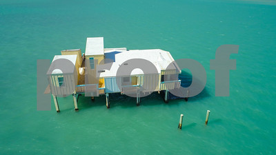 Old abandoned house o nstilts Miami FL Stiltsville