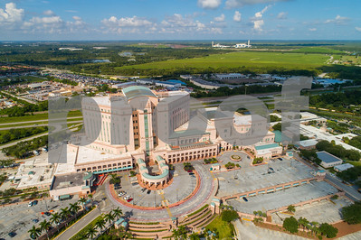 Aerial image of the VA Hospital Riviera Beach Florida