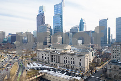Aerial photo of The Franklin Institute Philadelphia PA
