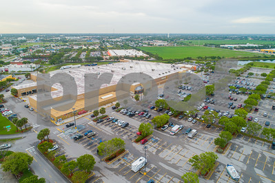 Aerial image of Florida City Walmart