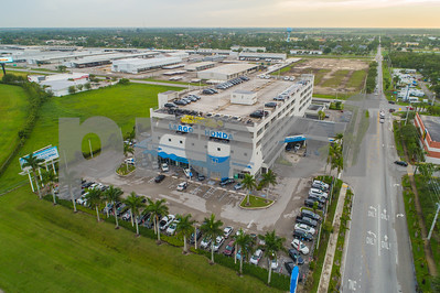 Aerial drone photo Largo Honda car dealership