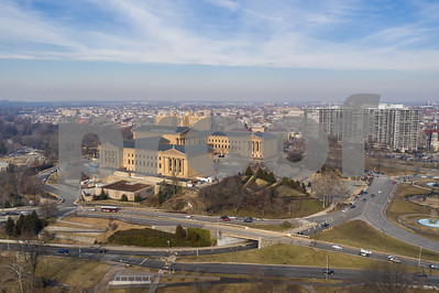 Aerials of Philadelphia Museum of Art