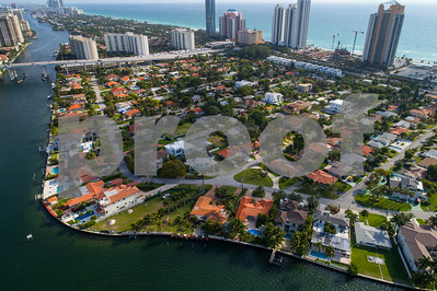 Aerial image of Golden Shores Sunny Isles Beach