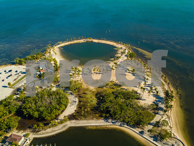 Aerial image The Round Beach Coral Gables Florida