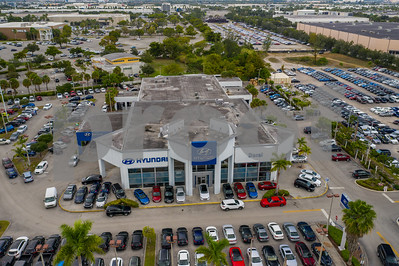 Aerial image Doral Hyundai car dealership