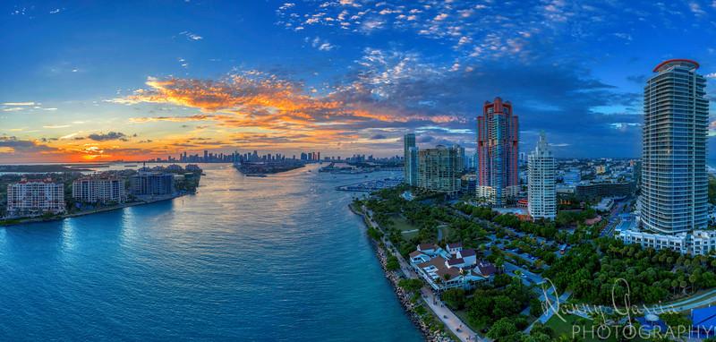 Miami South Beach Aerial Panoramic