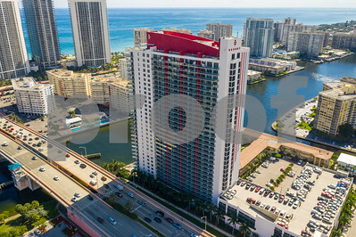 Aerial photo Beachwalk Resort Hallandale Beach Florida