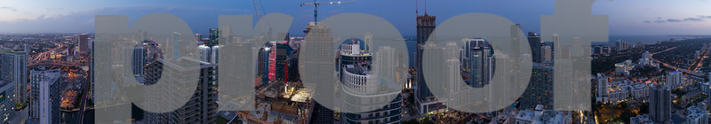 Aerial image of Brickell cityscape