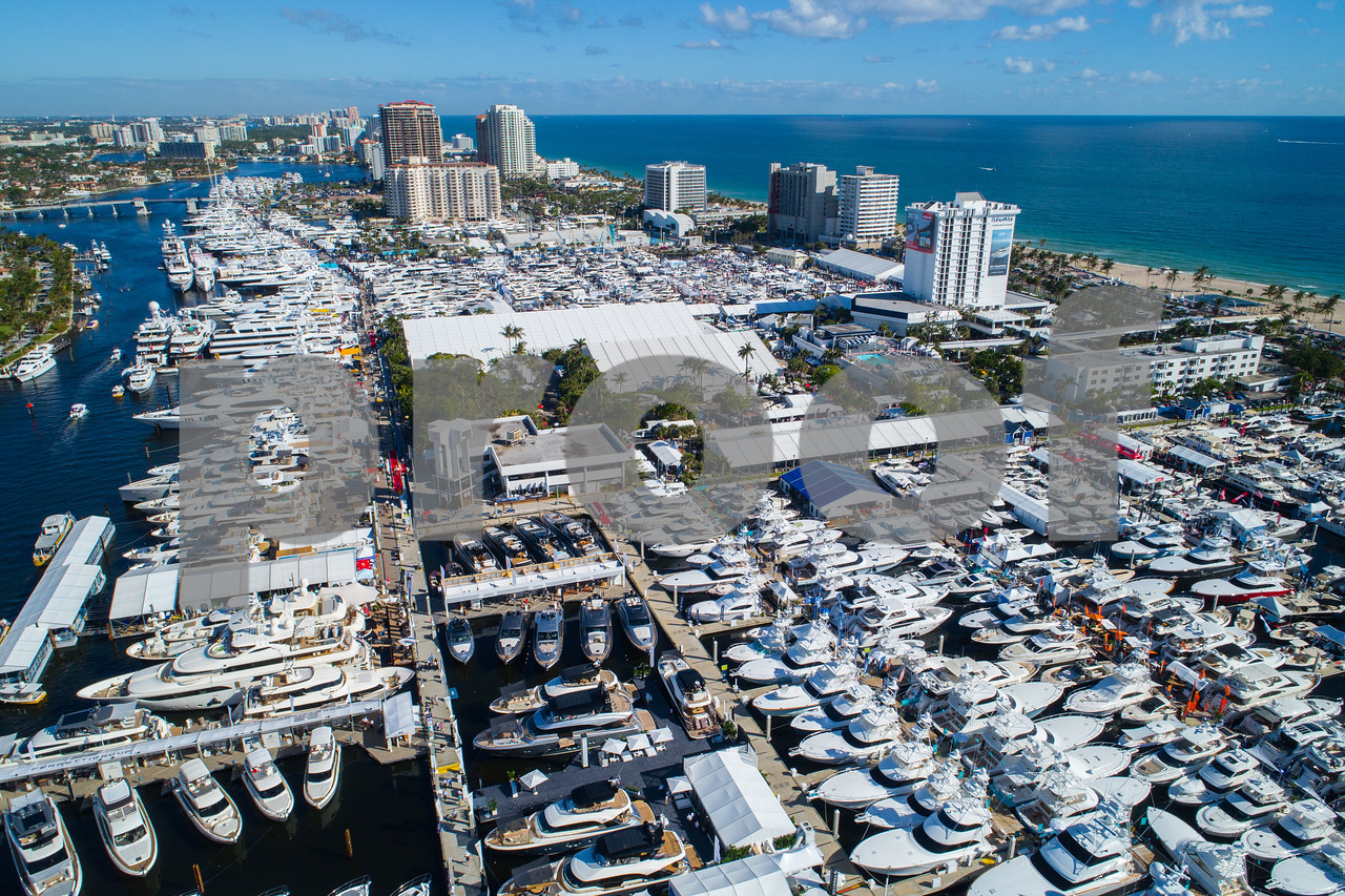 2017 Fort Lauderdale International boat show aerial photo