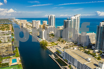 Aerial Hollywood Beach FL USA