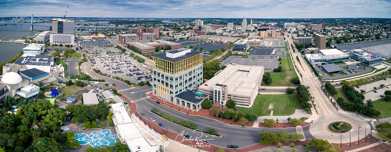 Camden NJ Waterfront Aerial View