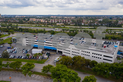 Aerial photo Esserman car dealership Doral Miami