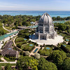 Baha'i Temple and Lake Michigan