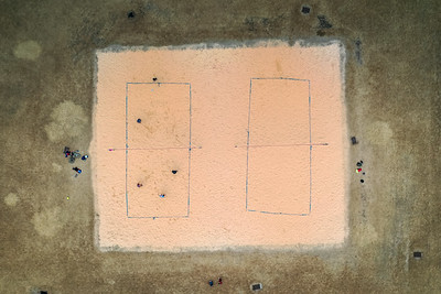 Volleyball Game from Above