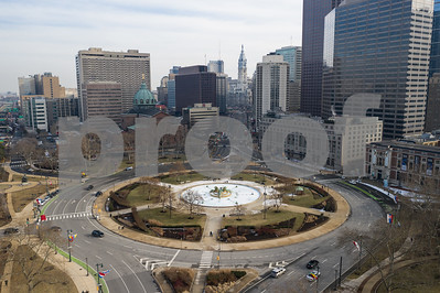 Aerial photo Logan Square Downtown Philadelphia PA USA