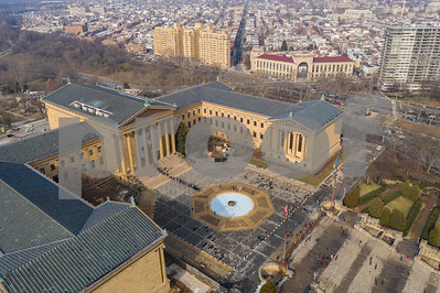 Philadelphia Art Museum aerial photo