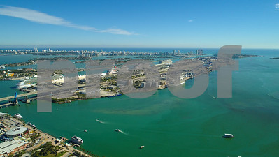 Aerial image of Port Miami