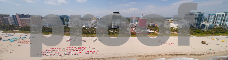 Aerial panorama Miami Beach Faena House
