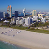 Aerial Miami Beach Morning